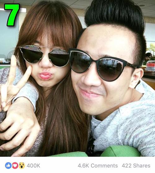 """7 hình ảnh Trấn Thành tình tứ với bạn gái nhiều """"like"""" nhất - 5"""