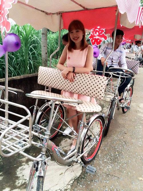 Độc đáo chú rể rước dâu bằng xe đạp đôi ở Nghệ An - 3