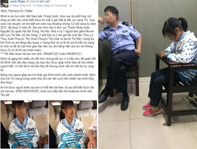 Tìm nhân thân bé gái 12 tuổi người Việt có thai ở TQ - 1
