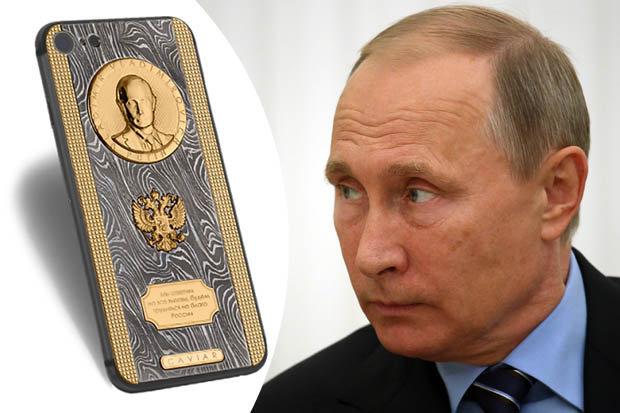 """Putin được tặng iPhone 7 siêu """"độc"""" giá 82 triệu đồng - 1"""