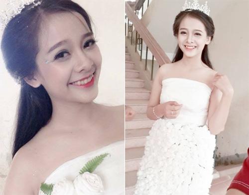 Cô gái Chăm đẹp hút hồn với váy cưới làm từ giấy ăn - 3