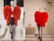 """Thời trang - """"Cuộc chiến"""" lông thú tim đỏ giữa Rihanna và các chân dài"""