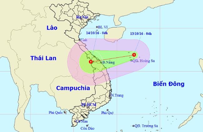 Áp thấp nhiệt đới mạnh cấp 6 xuất hiện trên Biển Đông - 1