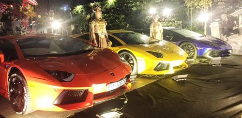 Dàn Lamborghini trị giá trăm tỷ đồng mừng ngày vui Minh Nhựa - 1