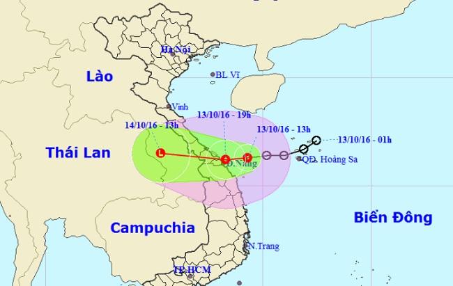 Áp thấp nhiệt đới tăng cấp, tiến sát bờ biển Đà Nẵng - 1