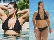 """Thời trang - """"Mẫu béo sexy nhất"""" mặc bikini khoe vòng 1 căng tràn"""