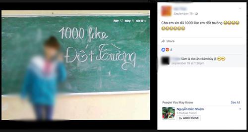 """Những status """"Đủ 1.000 Like đốt trường"""" nhan nhản trên Facebook - 5"""