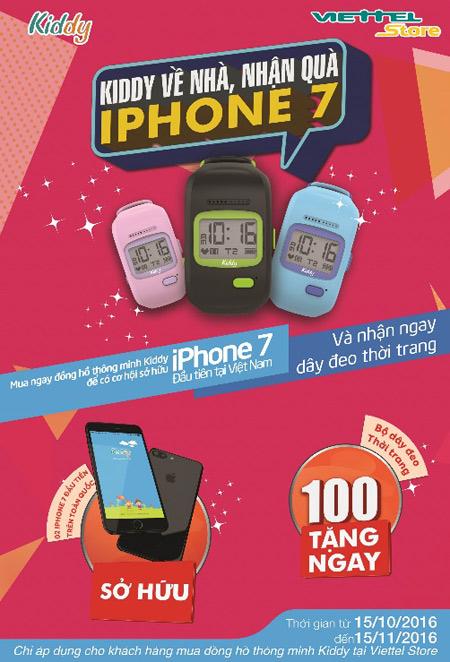 """Chương trình khuyến mãi """"Kiddy về nhà – nhận quà iPhone 7"""" - 1"""