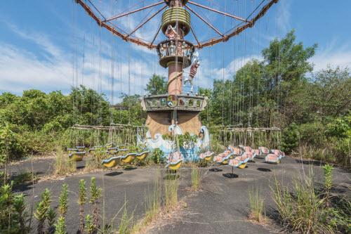 Hình ảnh rợn người bên trong công viên bỏ hoang ở Nhật Bản - 4