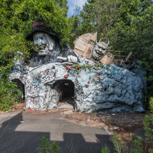 Hình ảnh rợn người bên trong công viên bỏ hoang ở Nhật Bản - 10