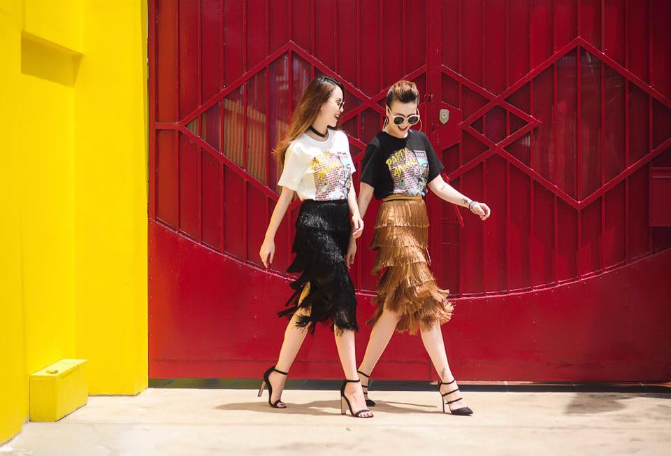 Phong cách chất ngất của cặp chị em Yến Trang- Yến Nhi - 8