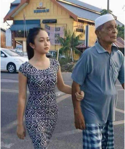 Cụ ông 66 tuổi cưới hot girl 18 tuổi gây xôn xao - 1