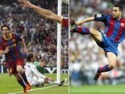 Bóng đá - Messi rê qua 5 sao Real xếp dưới cú lốp bóng của Xavi