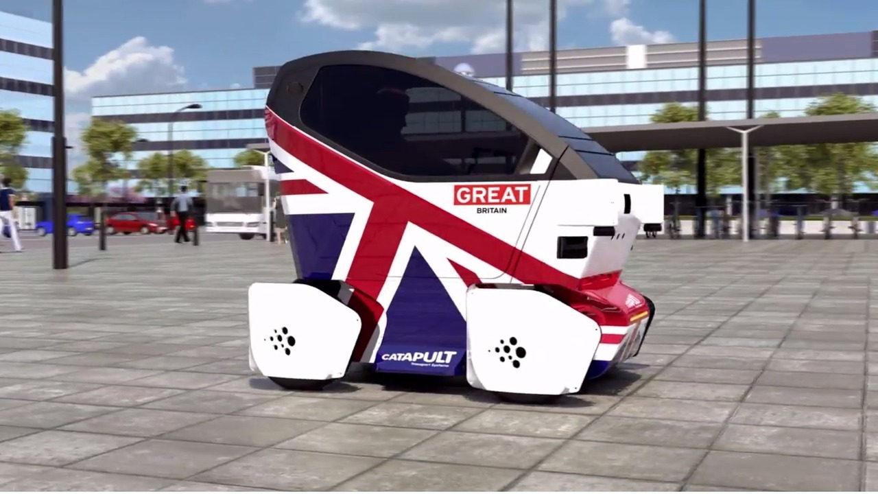 Xe không người lái lần đầu tiên thử nghiệm trên đường phố Anh - 2