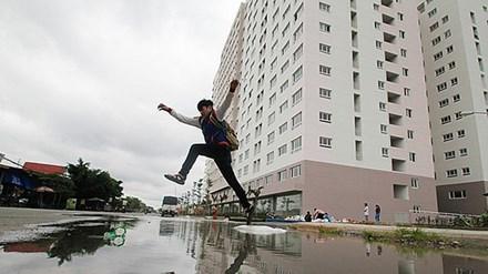 TPHCM: Mưa là ngập 'ám' bất động sản - 1