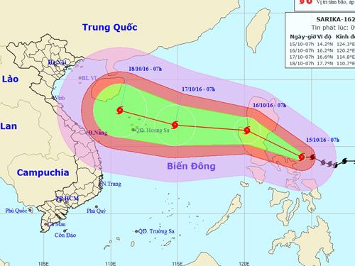 Thủ tướng chỉ đạo khẩn ứng phó với siêu bão Sarika - 1