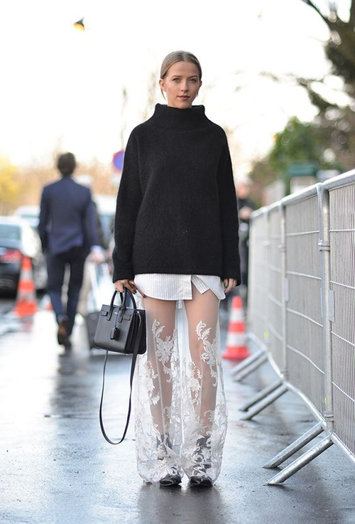 Khi mốt chân váy xuyên thấu áp đảo đầm áo ngàn lỗ - 6
