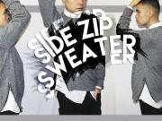 Thời trang - Trai ngoại quốc tự may áo len xẻ tà sành điệu, cá tính