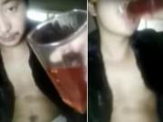 Phi thường - kỳ quặc - Nhập viện khẩn cấp vì uống ớt chưng dầu phát trực tiếp lên mạng