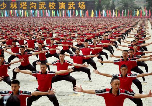 Choáng ngợp màn đồng diễn võ Thiếu Lâm tuyệt đỉnh - 7