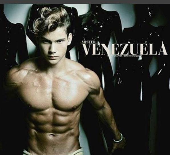 """Chị em """"phát sốt"""" với cơ bắp của nam vương Venezuela - 4"""