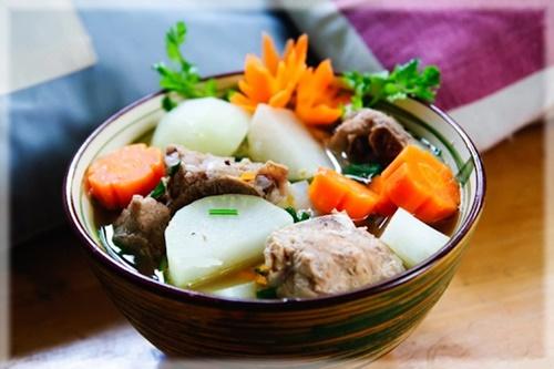Củ cải hầm xương ngon ngọt thơm lừng - 5