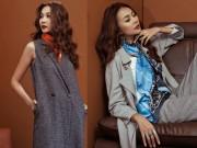 Thời trang - Siêu mẫu Thanh Hằng sang chảnh với muôn kiểu khăn thu