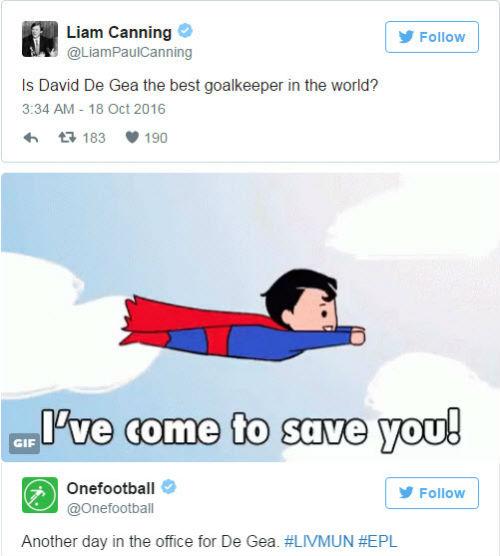 """Cứu thua xuất thần, De Gea được ví như """"siêu nhân"""" - 2"""