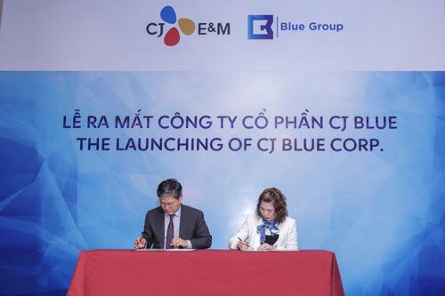 Hai 'ông lớn' truyền thông Việt - Hàn hợp tác ra mắt CJ Blue - 1
