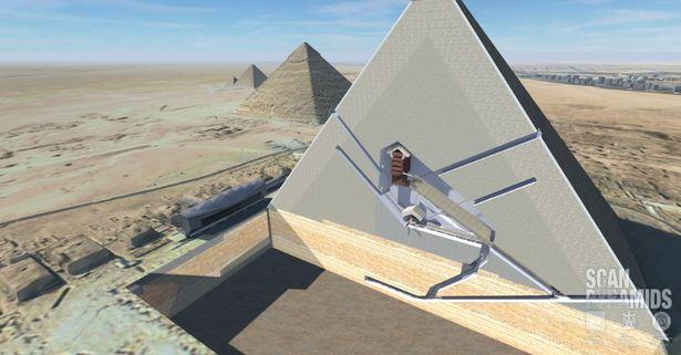 Phát hiện 2 hầm bí ẩn trong kim tự tháp Ai Cập - 1