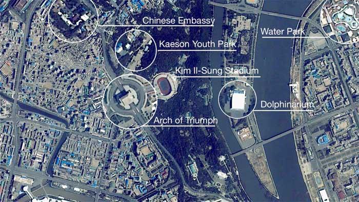 """Hình ảnh """"độc"""" về thủ đô Triều Tiên nhìn từ vũ trụ - 1"""