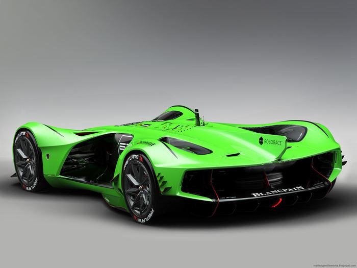 """""""Ngẩn ngơ"""" trước Lamborghini Spectro bản đua không người lái - 4"""