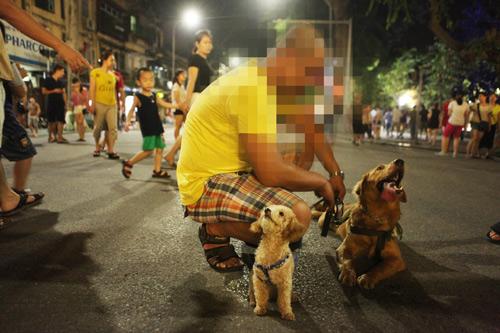 HN sẽ xử lý quyết liệt chó không rọ mõm ở phố đi bộ - 1