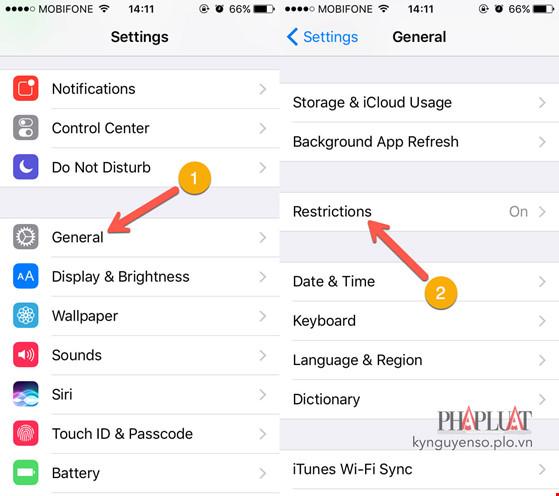 Sửa lỗi không thể xóa ứng dụng trên iPhone - 1