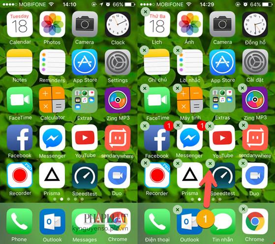 Sửa lỗi không thể xóa ứng dụng trên iPhone - 3