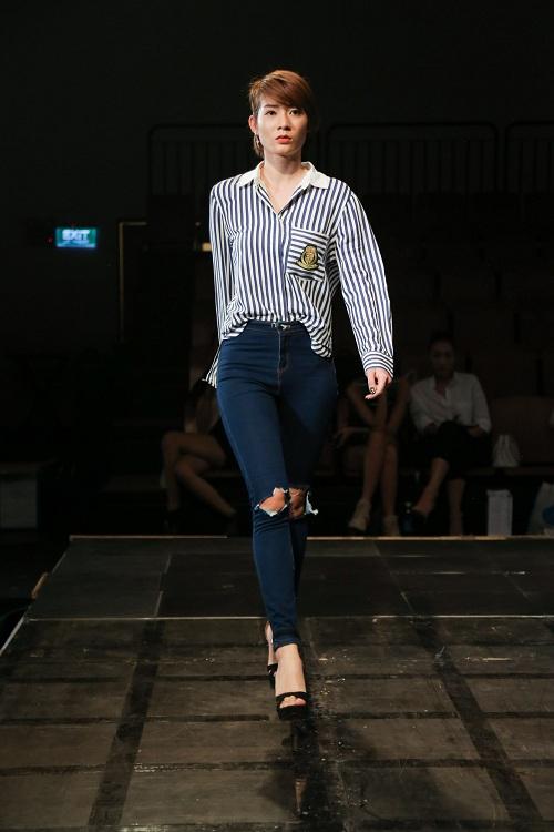Chân dài Việt rủ nhau mặc sexy tổng duyệt thời trang - 12
