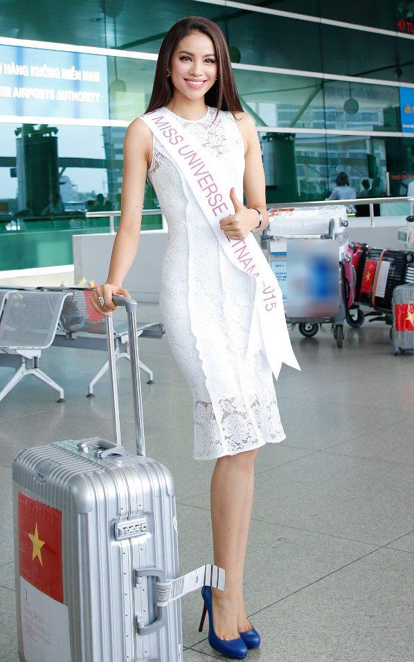 """Hễ ra sân bay, hoa - á hậu Việt lại mặc """"chất"""" thế này - 2"""