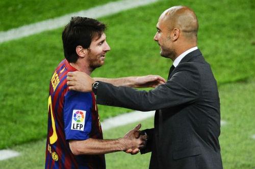 Pep ngầm ý mời gọi Messi gia nhập Man City - 1