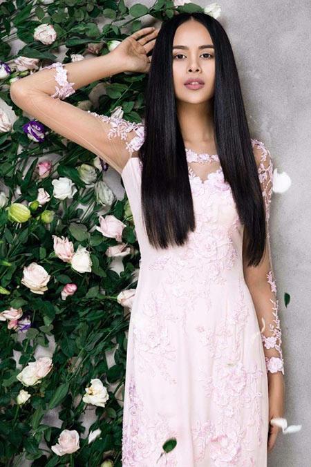 Sella Trương đẹp thanh tao với loạt áo dài cách tân - 8