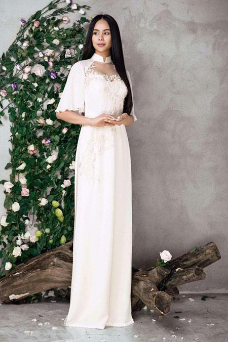 Sella Trương đẹp thanh tao với loạt áo dài cách tân - 9