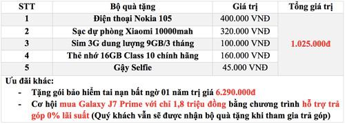 Nhận quà khủng 1 triệu khi mua Galaxy J7 Prime tại Hoàng Hà Mobile - 3