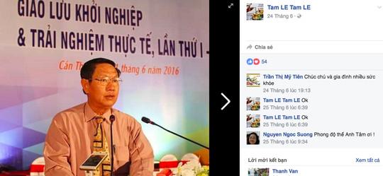 Phó Chủ tịch TP Cần Thơ bị mạo danh trên Facebook - 1