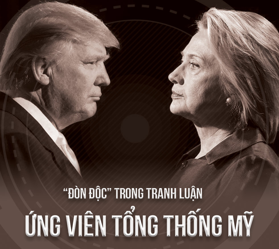 """[Đồ họa] """"Đòn độc"""" trong khẩu chiến Trump-Clinton - 1"""