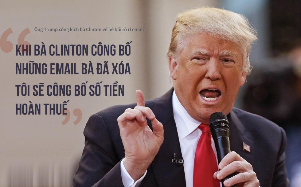 """[Đồ họa] """"Đòn độc"""" trong khẩu chiến Trump-Clinton - 3"""