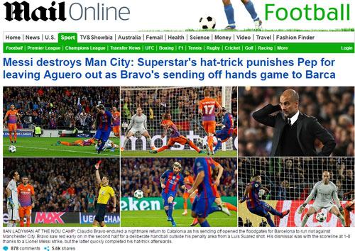 """Báo chí thế giới tôn Messi như """"vị Thánh"""", vùi dập Bravo - 2"""