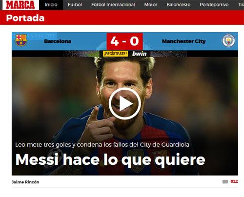 """Báo chí thế giới tôn Messi như """"vị Thánh"""", vùi dập Bravo - 3"""