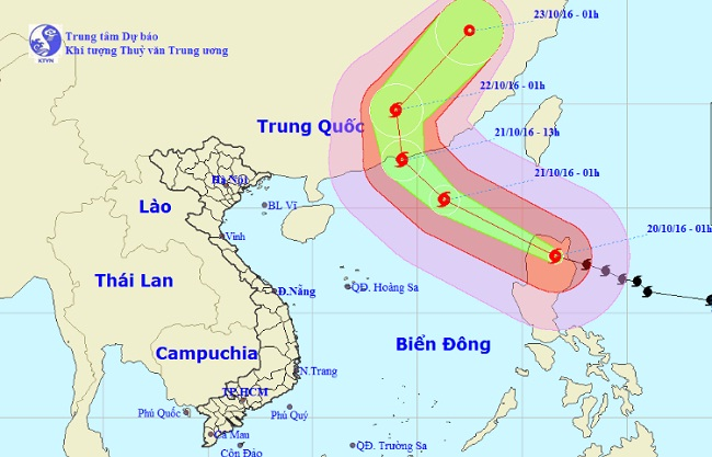 Biển Đông sắp đón siêu bão Haima - 1