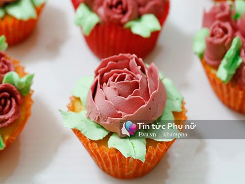 Làm bánh cupcake hoa hồng tặng mẹ 20-10 - 9