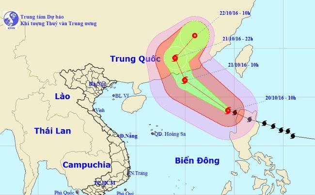 Siêu bão Haima giật cấp 16 vào Biển Đông - 1