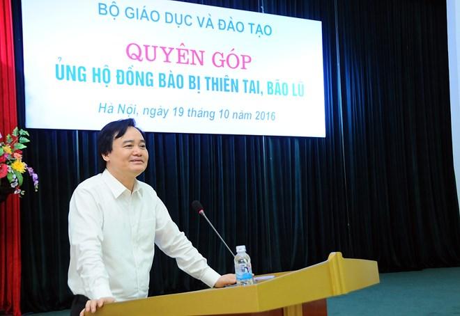 Bộ GD&ĐT phát động phong trào ủng hộ miền Trung - 1